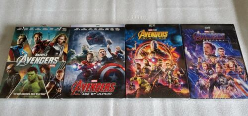 Avengers 4 Movie Bundle! End Game, Infinity War, Age of Ultron, Avengers DVD!