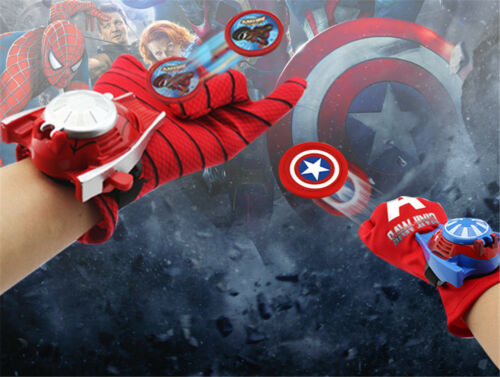 Avengers Glove Launcher Iron Man Spiderman Toy Gloves Kids Cosplay Party Gift UK