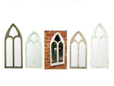 e2e Arch Wooden Vintage Wall Mirror Garden Decoration