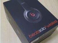 Beats by Dre solo 2 Wireless headphones Brand new with Receipt Black