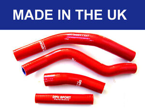 YAMAHA YZ250F YZF250 SILICONE HOSE KIT RADIATOR WATER PIPES RED 2014 ONWARDS