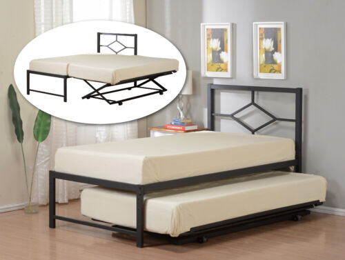 Kings Brand Furniture Black Metal Twin Size Day Bed  Frame w