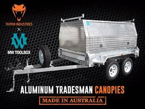 TAIPAN 8x5 Tandem Heavy Duty Aluminium Tradesman Top Trailer Coopers Plains Brisbane South West Preview