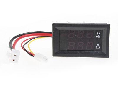 Dc 100v 10a Voltmeter Ammeter Bluered Led Dual Digital Volt Amp Meter Gauge Av