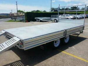 12x7 Heavy Duty Flat Top Flat Bed Tandem Trailer For Sale 3500kg ATM North Ipswich Ipswich City Preview
