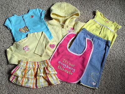 Girl Baby Clothes Lot 6 pieces 3-9 month Baby Q Garanimals  Y108