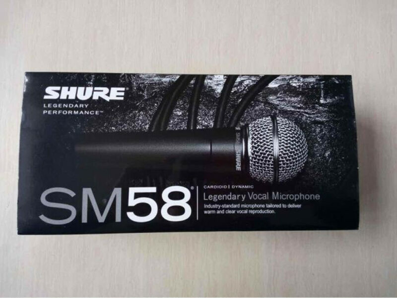 Shure SM58S Performance Dynamic Cable Professional Microphone With On Off Switch