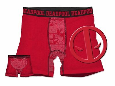 Marvel Comics DEADPOOL Logo Mens Boxer Briefs
