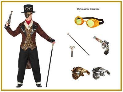 Steampunk Herren Kostüm Gothic Victorianisch Barok Karneval Mottoparty - Herren Gothic Kostüm