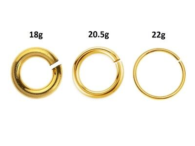 Open Round Ring (Wholesale Round Open Jump Ring 14K Gold Filled, Choose Size, Gauge, Package Size )