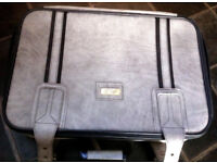 GREY FAUX LEATHER SUITCASE BY MARCO POLO