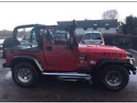 Jeep Wrangler Red Full Service History
