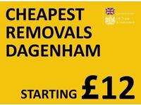CHEAPEST DAGENHAM Man & Van. Starting £12! Save 80%! UK Govt. approved.