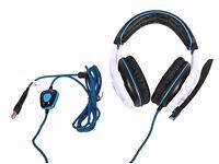 SADES SA903 7.1 Surround Sound Stereo Pro PC USB Gaming Headset Headband Headphones with Microphone