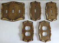 5 Piece Vintage Decorative Electrical Wall Plates
