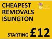 CHEAPEST ISLINGTON Man & Van. Starting £12! Save 80%! UK Govt. approved.