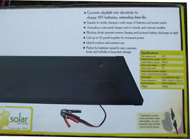 15W Amorphous Solar Panel For Charging 12V Batteries In Caravans, Boats Camping Or Projects BARGAIN!