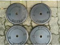 4 X 10kg cast iron weights