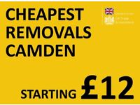CHEAPEST CAMDEN Man & Van. Starting £12! Save 80%! UK Govt. approved.