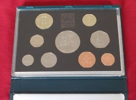 1996 UK Proof coin set - 9 brilliant coins in presentation case. Postage FREE to UK addresses.