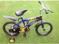 Children's / Kids / Boys 16in Bike / Bicycle Including Stabilisers - Still In Box