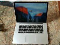 Mid 2015 15 Retina Apple Macbook Pro i7 2.5Ghz 16GB, 512GB SSD 2GB AMD M370X GPU
