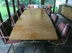 Vintage Pieff Conference table and 10 chairs