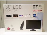 LG 23 inch 3D LCD monitor - BRAND NEW IN BOX
