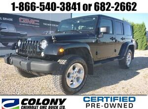 2014 Jeep Wrangler Unlimited Sahara, Leather, Touch Screen