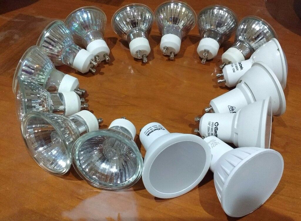 5LED Lights 3w-5w, 11 Halogen bulbs 30w-50w working good please use