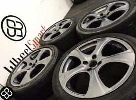 NEW 17'' ALLOY WHEELS & TYRES- 4 X 100- GUNMETAL GREY (VW,Mini,Peugeot,Nissan,Honda) Wheel Smart