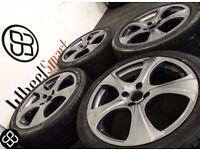 NEW 17'' ALLOY WHEELS & TYRES- 4 X 100- GUNMETAL GREY (VW,Mini,Peugeot,Nissan,Honda) Wheel Smart