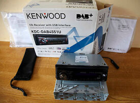 Kenwood 4551U DAB Car Stereo Unit.