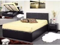 Cheapest Price -- Double Gas Lift Storage Leather Bed -- Same Day Delivery -- Brand New