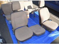 LAND ROVER 90/110 CLOTH FRONT AND REAR SEATS - BRUSHWOOD
