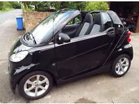 2010 Smart Car ForTwo Pulse Softouch Auto Cabriolet, 18k miles, FSH, Paddle shift, air con