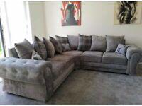 ⭐️🌟✨Spring Sale Offer⭐️🌟✨verona corner - 3 and 2 seater sofa set in grey color-cash on delivery