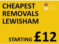 CHEAPEST LEWISHAM Man & Van. Starting £12! Save 80%! UK Govt. approved.