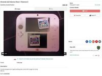 WARNING! DO NOT BUY from seller shown in these Ads - Nintendo 2ds + Pokemon Moon + X
