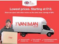 CHEAPEST WATFORD Man & Van. Starting £12! Save 80%! UK Govt. approved.