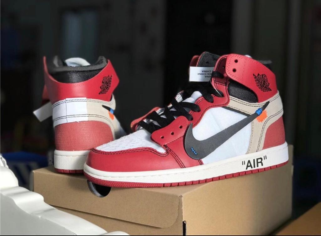 save off 1bce7 3605a Nike off white Air Jordan 1 UK 9 Virgil Abloh Bred Chicago | in Stratford,  London | Gumtree