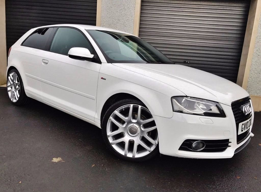 2010 audi a3 s line 2 0 tdi 170 white 3 door not a4 a1 vw. Black Bedroom Furniture Sets. Home Design Ideas