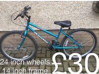 Kids or teens Mountain Bikes £30 - £45 mountain bike cycle commuter student mtb