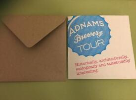 Adnams brewery tour voucher