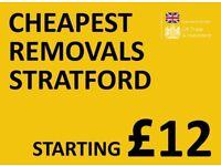 CHEAPEST STRATFORD Man & Van. Starting £12! Save 80%! UK Govt. approved.