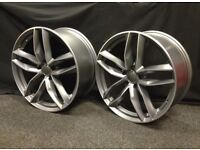 4x AUDI RS6 STYLE ALLOYS WHEELS VW TTS A3 A4 A5 A6 RS4 RS5 RS7 RS3 TT S3 SEAT S4 S5 S6 A8 Q3 S LINE