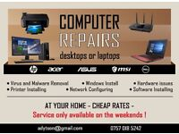 DESKTOP PC - LAPTOP REPAIRS, WINDOWS INSTALLS, LOW RATES