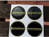 FORD FIESTA ZETEC S ST MK7 + MK7.5 FORD FOCUS RS ST MK2 + MK3 MOUNTUNE ALLOY WHEEL GEL BADGE OVERLAY