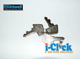 Uniwell Replacement Set of Till Keys S X Z for TX / SX / DX Series Sam4s C P Cash Register