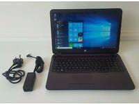 """Purple HP 15 - AMD Quad-Core A6, 1TB HDD, 4GB RAM, AMD Radeon HD 8400, Win 10, 15.6"""" Laptop"""